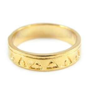 Gold plated ring Chorégraphie digits.   Taille 54