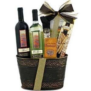 Two Is Better   Italian Wine Gift Basket Grocery & Gourmet Food