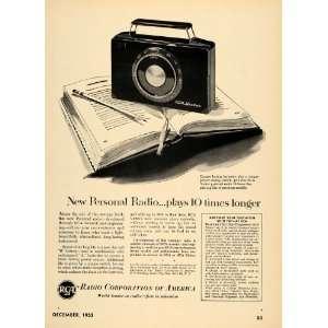 1952 Ad RCA Victor Personal Handheld Battery Radios
