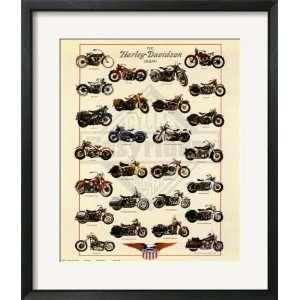Harley Davidson Legend Framed Poster Print, 23x27