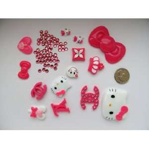 15 DIY Mix Kitty Bling Cell Phone Case Resin Flatback Deco