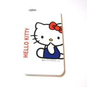 Hello Kitty sit down White Snap On Hard Case Cover for