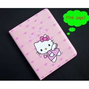 Hello kitty pink Angel style leather case bag for ipad 2