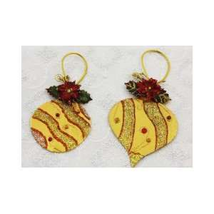 Holiday Lights Ornaments Gold Luster by Prima Arts