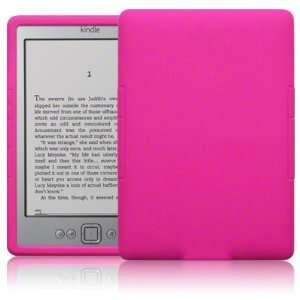 Hot Pink Kindle Silicone Skin Case for  Kindle 4