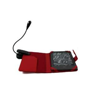 leather case cover pouch with lamp for  kindle 4 Electronics