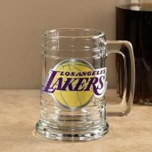 Los Angeles Lakers   NBA 15oz Glass Tankard (Primary Logo