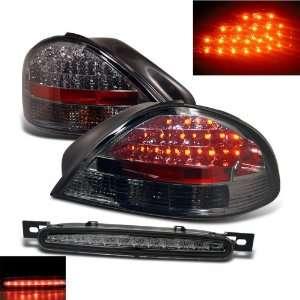 Am Smoke LED Tail Lights + LED 3rd Brake Lamp Lights Smoke Automotive