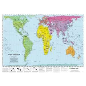 Peters World Map Laminated Poster (Early Learning