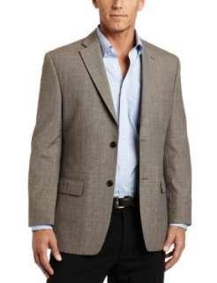 Haggar Mens Plaid Classic Fit Two Button Center Vent Sport Coat