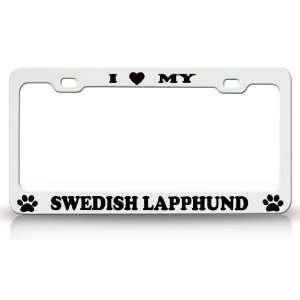 Animal High Quality STEEL /METAL Auto License Plate Frame, White/Black