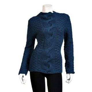 Brown Thick Knit Long Sleeve Sweater Twist Clothing
