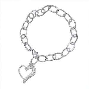 Style Heart Charm Bracelet Designer Inspired Silver Jewelry Jewelry