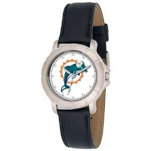 Miami Dolphins NFL Mens Player Series Leather Wrist Watch