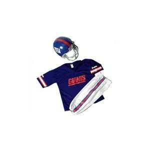 New York Giants Youth NFL Team Helmet and Uniform Set by Franklin