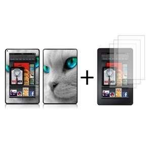 Bluecell 109 Cat pattern Skin Decal + 3 Pcs LCD Screen
