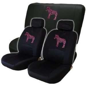 Unique Pink Zebra Low Back Seat Cover & Bench Cover Automotive