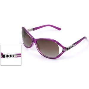 Como Purple Plastic Full Rim Frame Sunglasses for Ladies