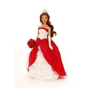 Brass Key Keepsakes   PRINCESA QUINCEANERA Porcelain Doll 14   Red