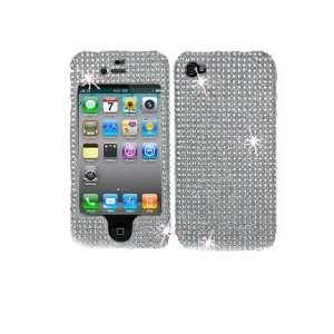 Premium Bling Silver Rhinestone Diamonds Hard Case Cover
