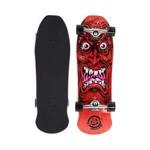 SANTA CRUZ Roskopp Face Red Complete Skateboard  Sports