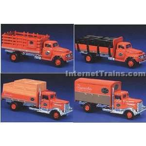 HO Scale Ford & Peterbilt 4 Truck Set   New York Central: Toys & Games