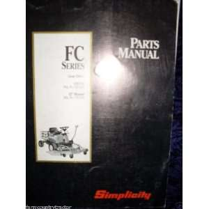Simplicity FC Series Gear Drive OEM Parts Manual: Simplicity FC: Books