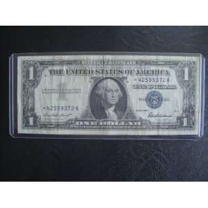 Star Note Series 1957 $1 Bill Note Silver Certificate * 42599372 A