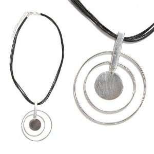 SG Paris Neck Metal and Cords 40 Cms Silver Noir/Jet Necklace Necklace