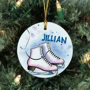 Personalized Ceramic Ice Skating Ornament: Kitchen & Dining