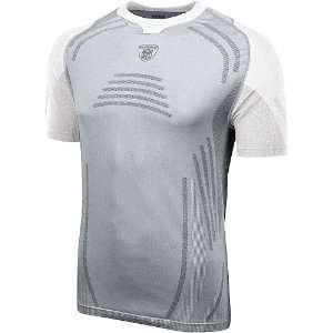NFL Shield Seamless Boost Short Sleeve Pearl/White Compression Top