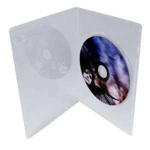 LINKYO® 7mm Slim Single Clear CD DVD Cases, 100% New