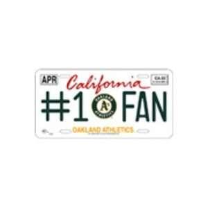 MLB Athletics Metal License Plate