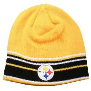 Pittsburgh Steelers Team Color Striped Knit Beanie Sports
