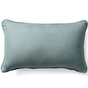 Outdoor Outdoor Lumbar Pillow in Sunbrella Gray   20 x 13