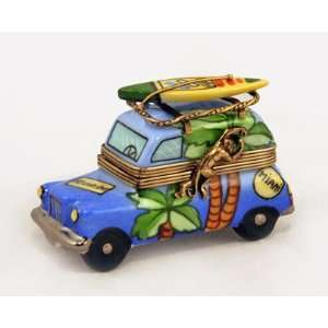 Florida Surfing Taxi &Surf Board French Limoges Box:  Home