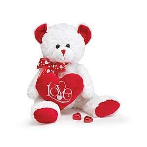 17 Plush Valentines Day White Teddy Bear