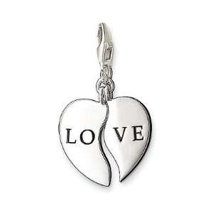 Thomas Sabo Heart Charm, Sterling Silver Thomas Sabo Jewelry