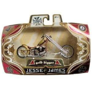 Jesse James West Coast Choppers Gold Digger Brown Gold: Toys & Games