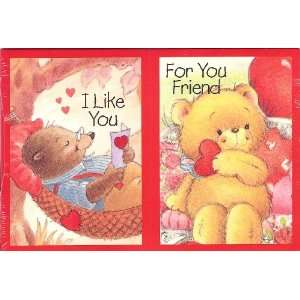 Cute Bear Valentine Cards for Kids & Teacher with Scripture   2