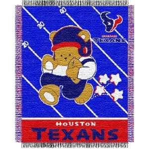 Houston Texans NFL Woven Jacquard Baby Throw Sports