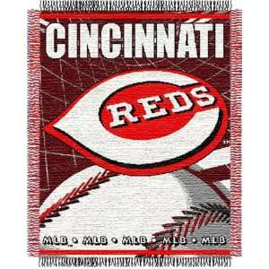 Cincinnati Reds Major League Baseball Woven Jacquard Throw