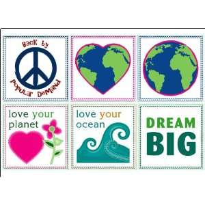 Love your World Signs   Easy Stick Vinyl Wall Art Decal
