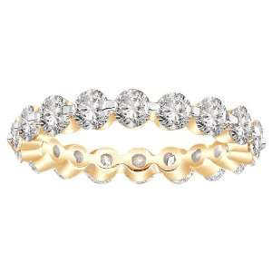14k Yellow Gold Shared Prong Diamond Eternity Ring (3.00