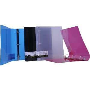 Filexec D Ring Binder, 1.5 Inch Capacity, Translucent, Letter size