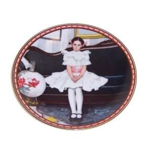 Sitting Pretty Norman Rockwell a Mind of Her Own Edwin Knowles China
