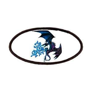 Patch of Blue Dragon with Lightning Flames Everything