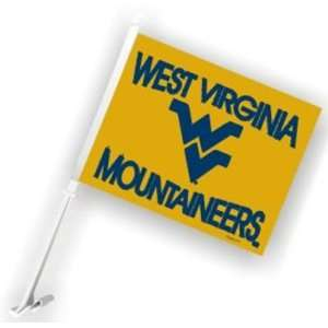 West Virginia Mountaineers Car Flags   Set of Two  Sports