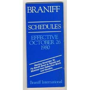 International Schedules October 1980 Time Table: Everything Else