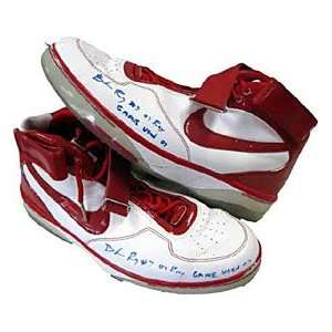 Game Used Portland Trail Blazers Red / White Shoes
